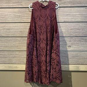 Turtleneck maroon blouse, size large
